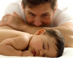 Father-sleeping baby