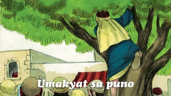 Kaya tumakbo siya sa unahan at umakyat sa isang puno ng sikamoro upang makita si Jesus na daraan doon.