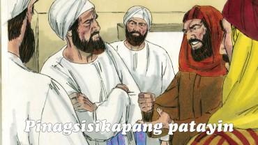Nagturo si Jesus sa templo araw-araw, habang pinagsisikapan naman ng mga namamahalang pari, mga tagapagturo ng Kautusan, at ng mga pinuno ng bayan na patayin siya.