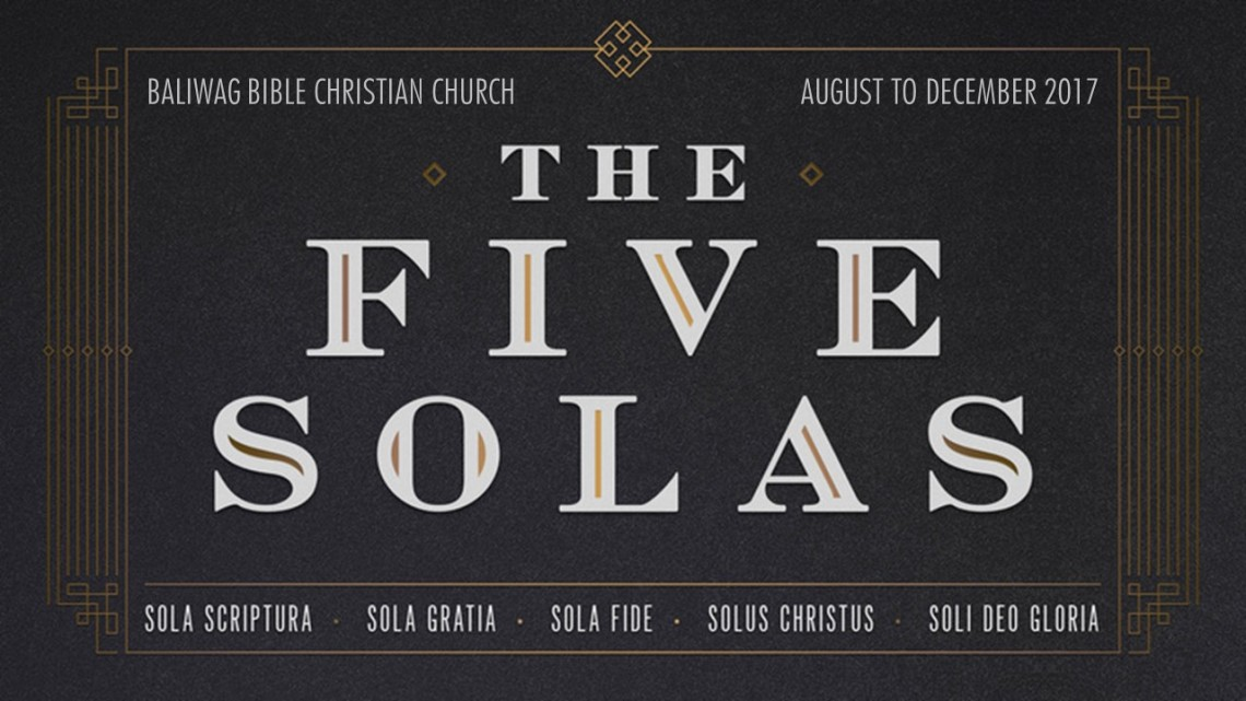 Five Solas sermon series